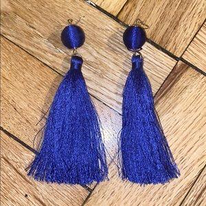 Forever 21 blue fringe earrings